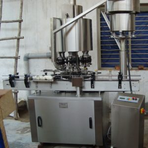 Eight Head Ropp Cap Sealing Machine Model No. SBCS - 200R GMP Model