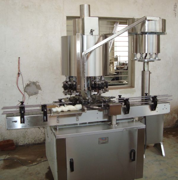 Capper Machine - Four Head Ropp Cap Sealing Machine Model No. SBCS - 100R GMP Model