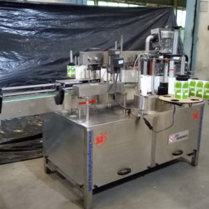 AUTOMATIC FRONT AND BACK STICKER (SELF-ADHESIVE) LABELER MACHINE.