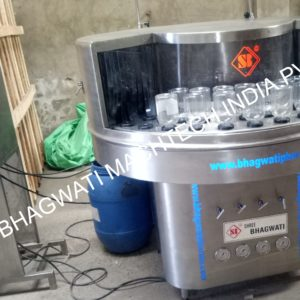 AUTOMATIC ROTARY BOTTLE WASHING MACHINE MODEL NO. SBRW-50 GMP MODEL.