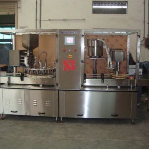Rotary Monoblock 12x8 Dry Syrup Powder Filling & Capping Machine