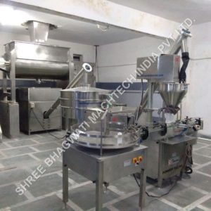 AUTOMATIC SINGLE HEAD AUGER TYPE POWDER FILLING MACHINE MODEL NO SBAF-60