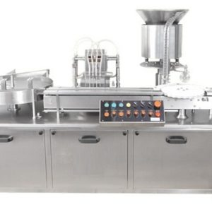 AUTOMATIC SIX HEAD LIQUID VIAL FILLING WITH RUBBER STOPPERING MACHINE SBLFRS-150