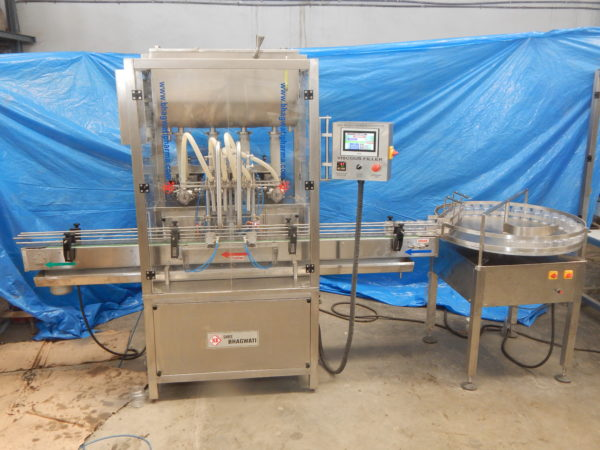 Three Head Cream-Lotion Filling Machine SBCPF-120 GMP Model