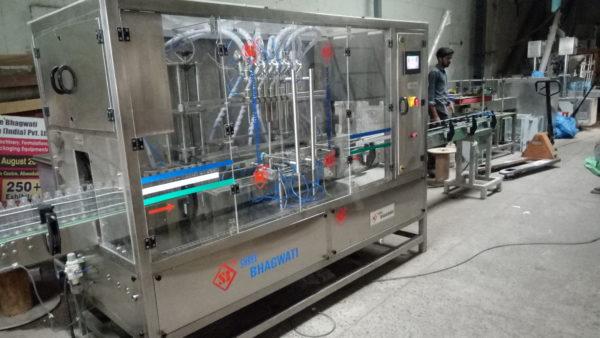 Volumetric Six Head Oil Filling Machine Model SB Volufill 6 X VF