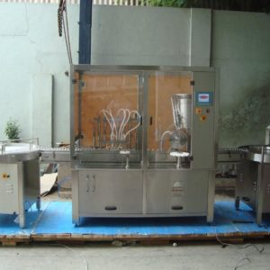 Automatic Eight Head Liquid Vial Filling With Rubber Stoppering Machine