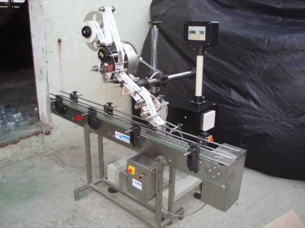 Horizontal Top Sticker Labelling Machine Model No. SBHSL - 150 GMP Model