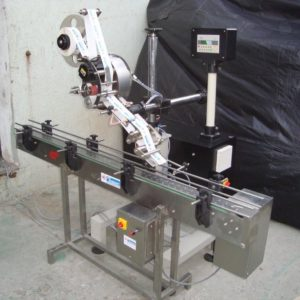 Horizontal Top Sticker Labelling Machine Model No. SBHSL - 150 GMP Model