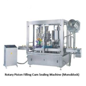 Automatic Rotary Monoblock Piston Filling Cum ROPP Sealing Machine up to 6500 to 12000 Bottles Per Hour Output