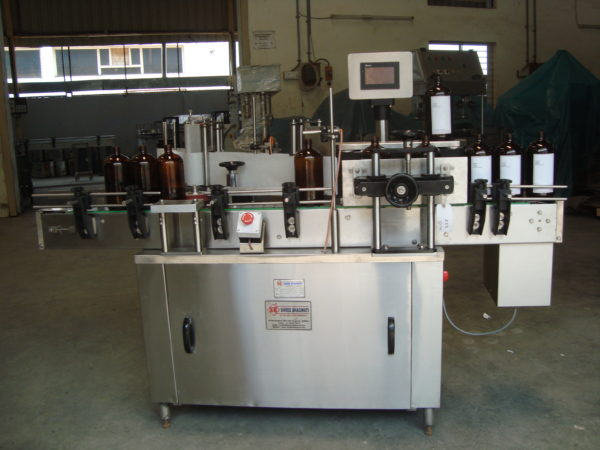 Automatic Self Adhesive Vertical Bottle Sticker Labelling Machine SBSL - 120 GMP Model