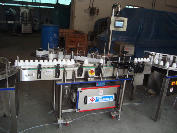 Automatic Self Adhesive Vertical Vial Sticker Labelling Machine SBSL - 150 GMP Model