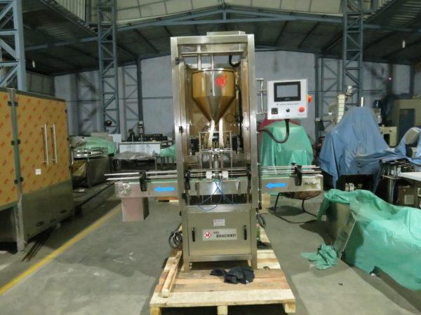 Single Head Cosmetic Cream Filling Machine / Lotion Filling Machine / Ointment Filling Machine Model No. SBCPF 45 GMP Model