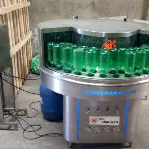 Bottle washing machine.