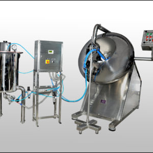COATING MACHINE WITH MOBILE HOT AIR BLOWER