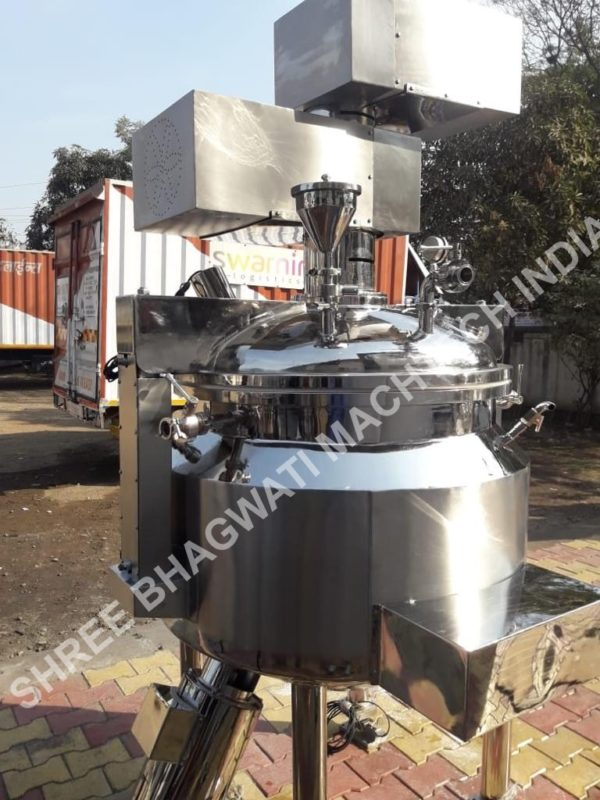 cream and ointment vacuum homogenizing mixer