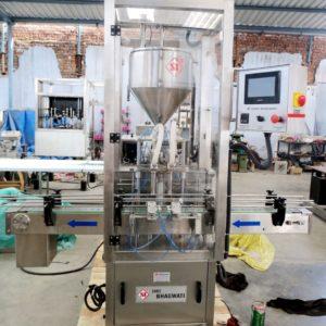 Viscous Liquid Filling Machine - Double Head Cream-Lotion Filling Machine Model No. SBCPF-80 GMP Model
