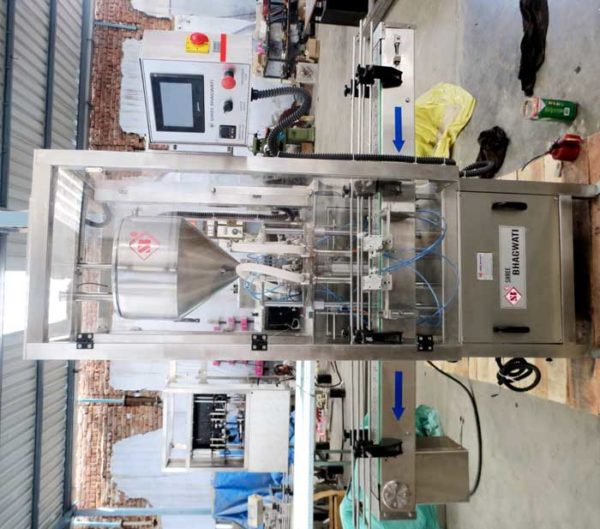 Viscous Liquid Filling Machine - Double Head Cream-Lotion Filling Machine Model No. SBCPF-80 GMP Model