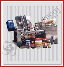 Semi Automatic Wet Glue Labeling Machine up to 30-40 Labels Per Minute Output