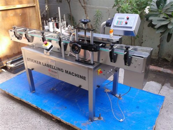 Semi Automatic Self Adhesive Vertical Vial Sticker Labelling Machine