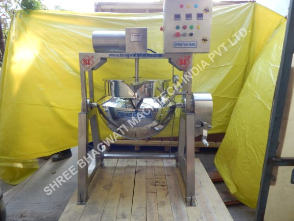 Paste Kettle ,Starch paste kettle, Tilting Jacketed paste kettle