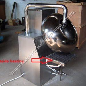 coating pan outside heating