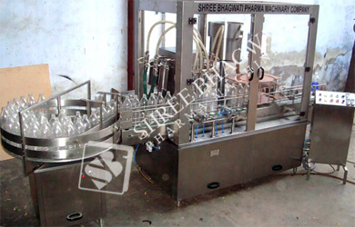 Monoblock Linear Single Head Piston Filling cum Single Head Ropp Cap Sealing Machine