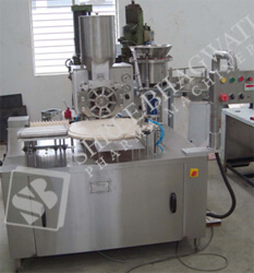 Single Head Rotary Dry Syrup Powder Filling Machine SBPF-D-80 GMP Model