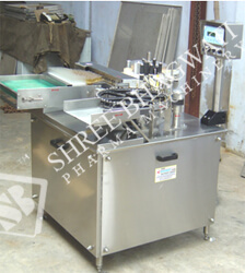 Self Adhesive Vertical High Speed Ampoule Labelling Machine Model No. SBSL-300A