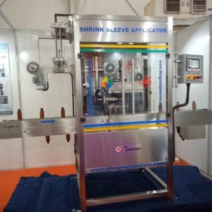 Shrinkable Label Inserting Machine (Applicator) Model No. SB-SLEEVE-30 GMP Model