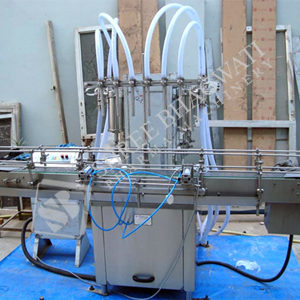 Automatic Eight Head Volumetric Liquid Filling Machine Model No. SBLF – 200 GMP Model