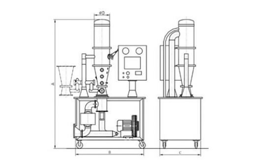 Technical-drawing-of-a-fluid-bed-dryer