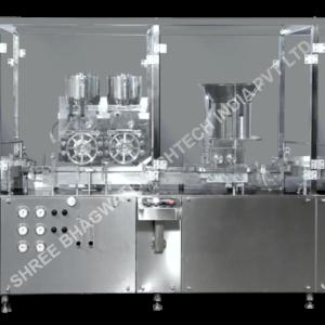 Vial powder filler , Sterile powder filling stoppering machine