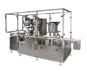 Automatic Injectable Powder Filling With Rubber Stoppering Machine Model SBPF-300DP