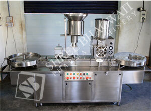 Dry Powder Filling with Rubber Stoppering Machine SBPF-240 GMP Model