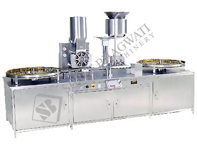 Automatic Injectable Powder Filling with Rubber Stoppering Machine