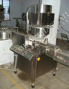 Automatic Single Head Aluminum Vial Cap Sealing Machine Model No. SBCS – 60V GMP Model
