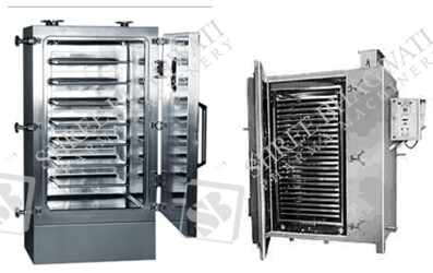 Tray Dryer GMP Model up to 12 to 129 Trays Loading Capacity
