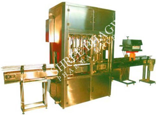Automatic Volumetric Eight Head Oil Filling Machine up to 10 – 25 Ltrs. Filling Range