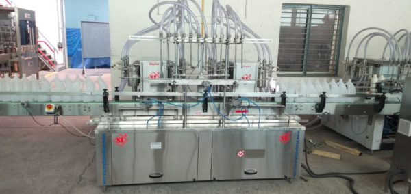 Liquid Soap Bottle Filling Machine , Detergent Liquid filler ,Glass Cleaner filler machine for bottle ,Floor cleaners filler machine for bottle , Jar house Hold Liquid filling machine