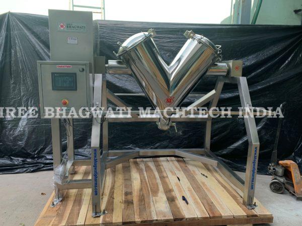 V Blender machine Pilot Scale Model Capacity with 50 Liters, 100 Liters, 200 Liters, 300 Liters, 500 Liters,