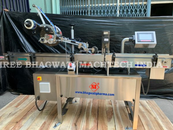 Top labeler, Top labelling machine for Carton/Box/Container